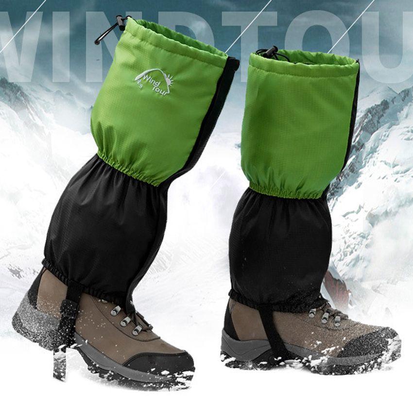 New Men's Women's Waterproof Fleece Snow Legging Gaiters Outdoor Sport Hiking Climbing Trekking Cycling leg Warmers Gaiter VK037