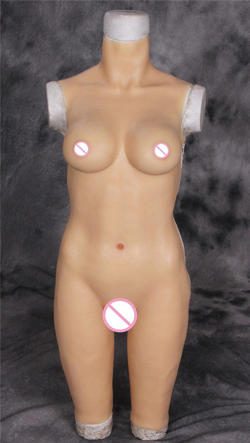Fake Breasts General Conjoined False Vagina Fake Anal Male Transgender Silicone Breast Forms Conjoined Tights Dress Silicone