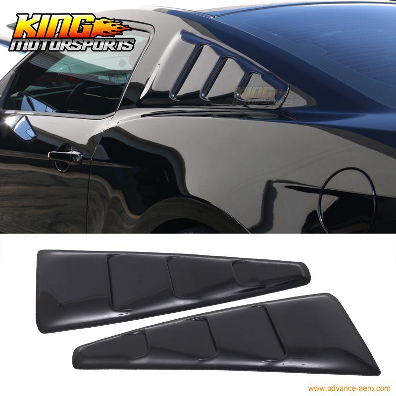Für 2005-2014 Ford Mustang Quartal Panel Translucent Geraucht Getönte Fenster Seite Lamellen USA Inlands Kostenloser Versand Heißer Verkauf