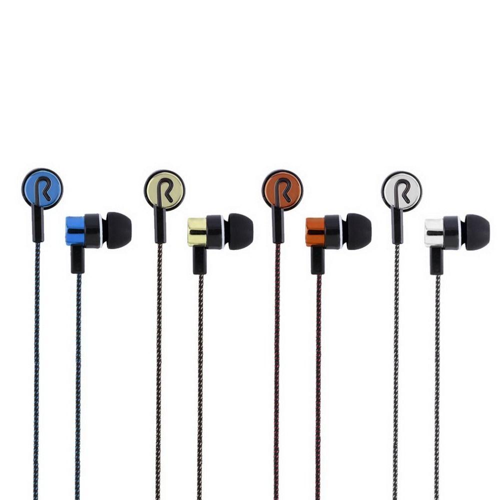 3,5mm Stereo Gewebte Fiber Tuch Linie Headset Gerät Metall Kopfhörer Jack Großhandel