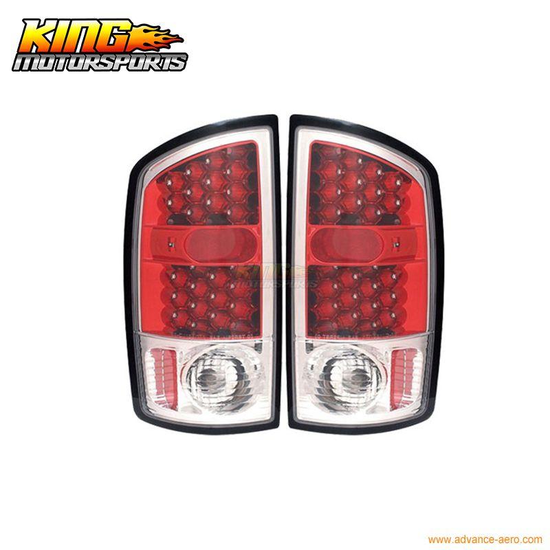 Passt 2002-2006 Dodge Ram 1500 2500 3500 LED Rückleuchten Rot Gehäuse Klare Objektiv USA Inlands Kostenloser Versand