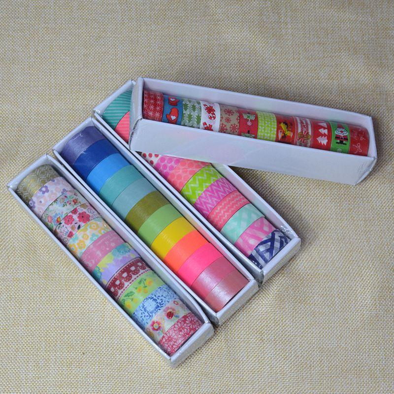 Herramientas de la escuela conjunto de cintas washi 12 unids papeleria fita adesiva enmascaramiento japonés kawaii scrapbooking navidad decorativos papelaria