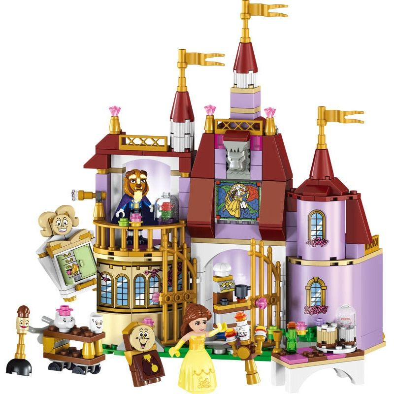 316pcs Beauty and The Beast princess Bella Enchanted Castle Set Model Building Blocks Gifts Toys Compatible Legoingly Friends