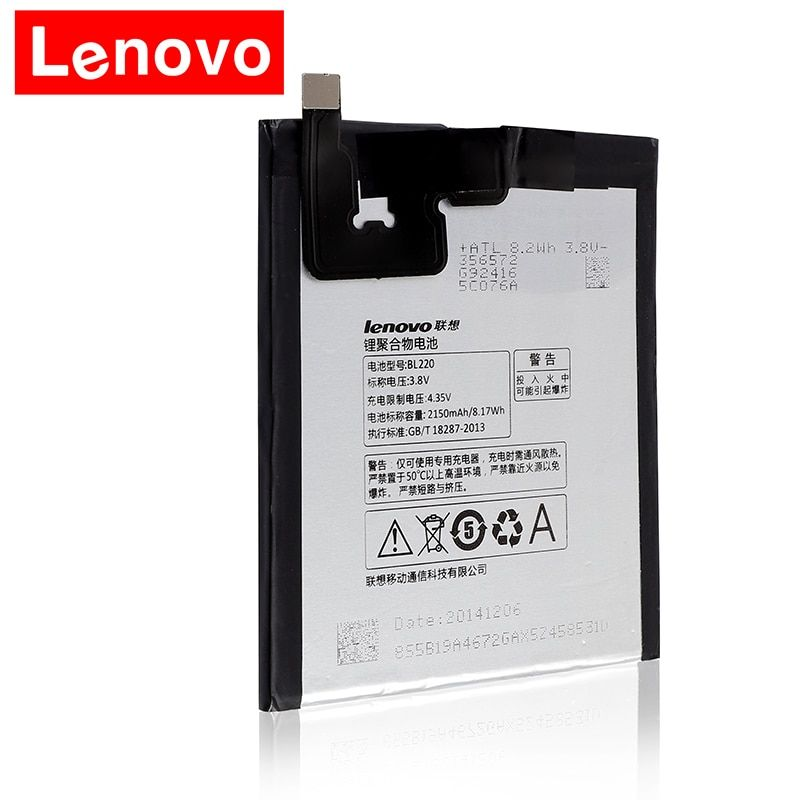New Original Quality Battery BL220 For Lenovo S850 S850T 2150mAh 8.17wh Mobile Phone Batteries Accumulator In stock bl220