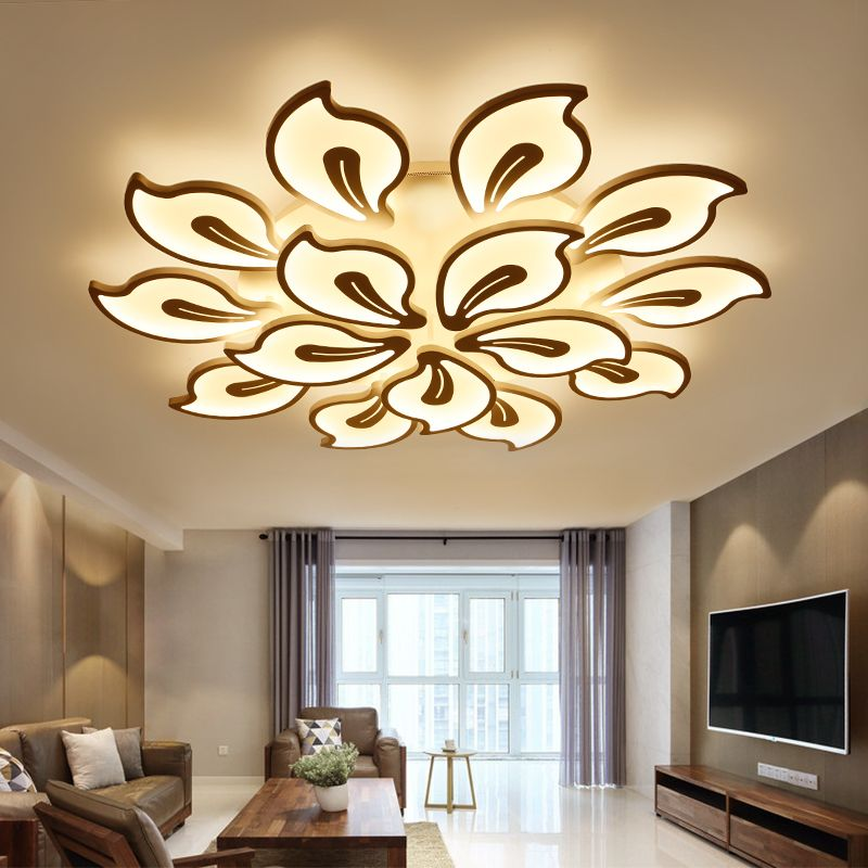 New modern led chandeliers for living room bedroom dining room acrylic iron body Indoor home chandelier  lamp lighting fixtures