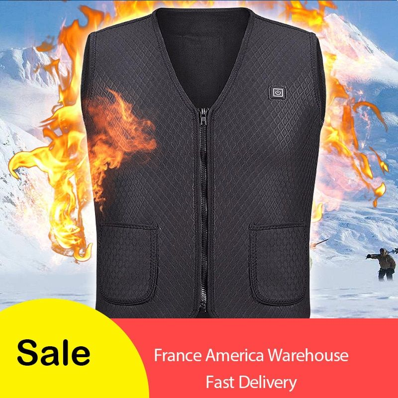 2018 New Men Women Electric Heated Vest Heating Waistcoat Thermal Warm Clothing Feather Hot Sale Winter Jacket hunting Vest