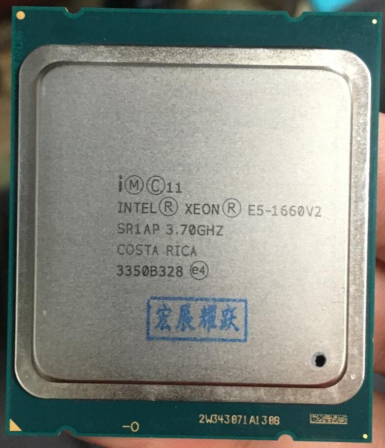 Intel Xeon Prozessor E5 1660 V2 E5-1660 V2 CPU LGA2011 Server prozessor 100% arbeits richtig Desktop Prozessor E5-1660V2