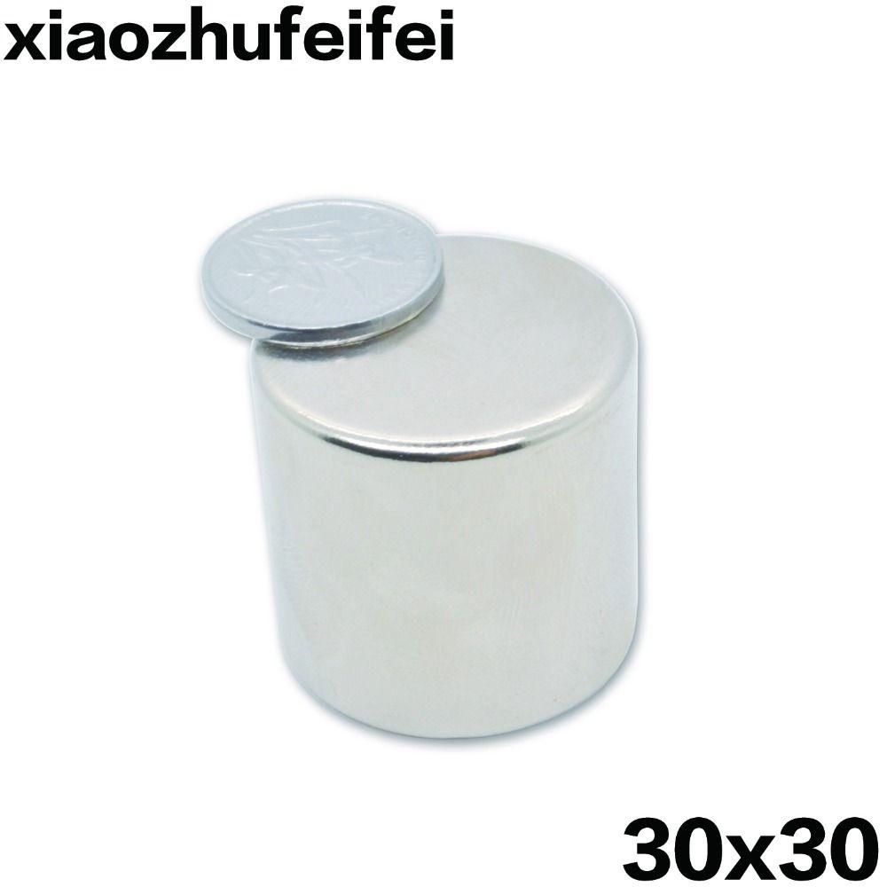 2 pièces néodyme N35 Dia 30mm X 30mm fort aimant 30*30 minuscule disque NdFeB terre Rare pour artisanat modèles réfrigérateur collage 30x30