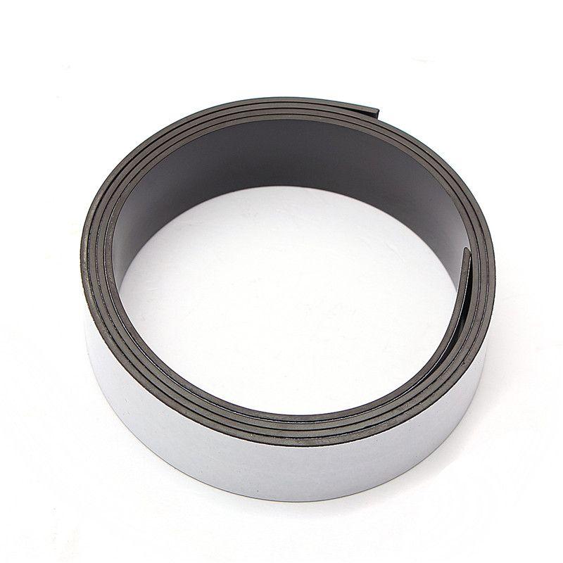 1 Mt 25mm x 1,5mm Gummi Selbstklebende Magnetstreifen Flexible Magnet DIY Fertigkeit Band für shop büro hause schule datei
