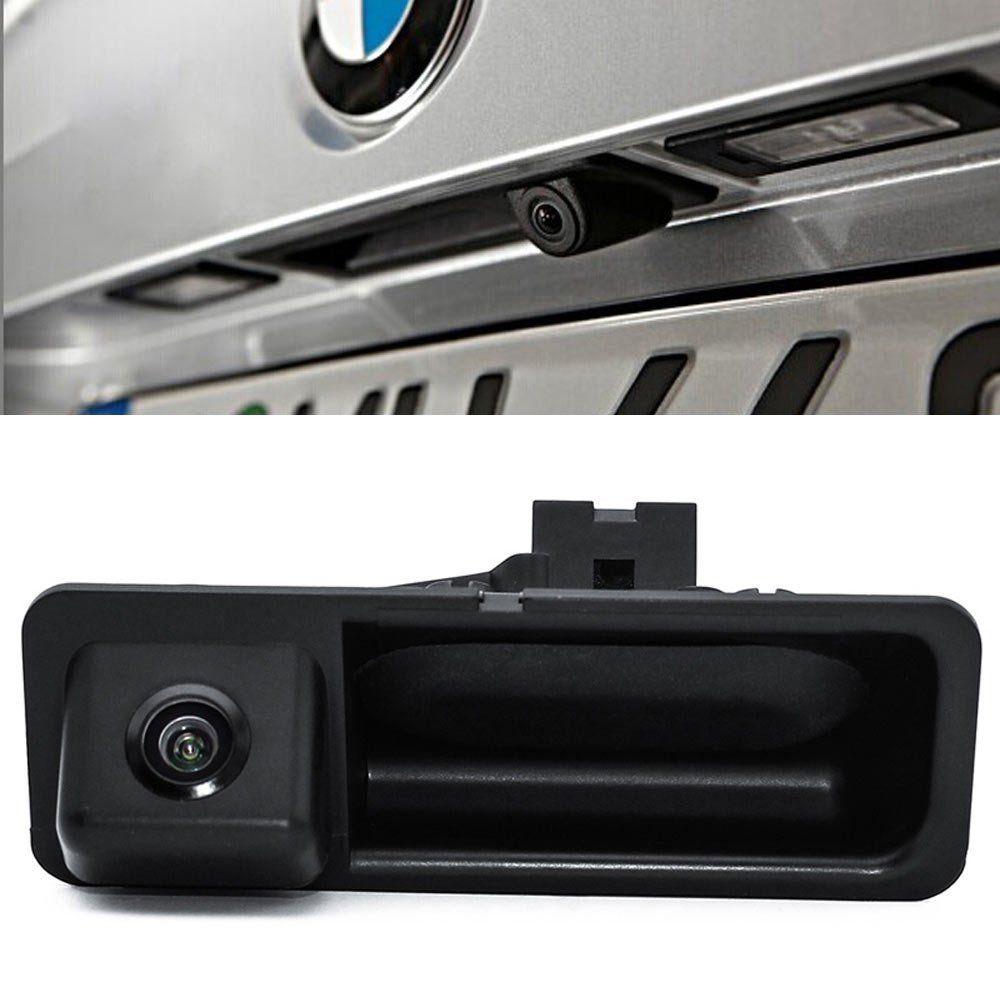 Caméra de vue arrière de voiture avec poignée de coffre pour BMW série 5 X3 X1 X5 X6 F10/F11/F25/F30 parking inverse de secours à 170 degrés