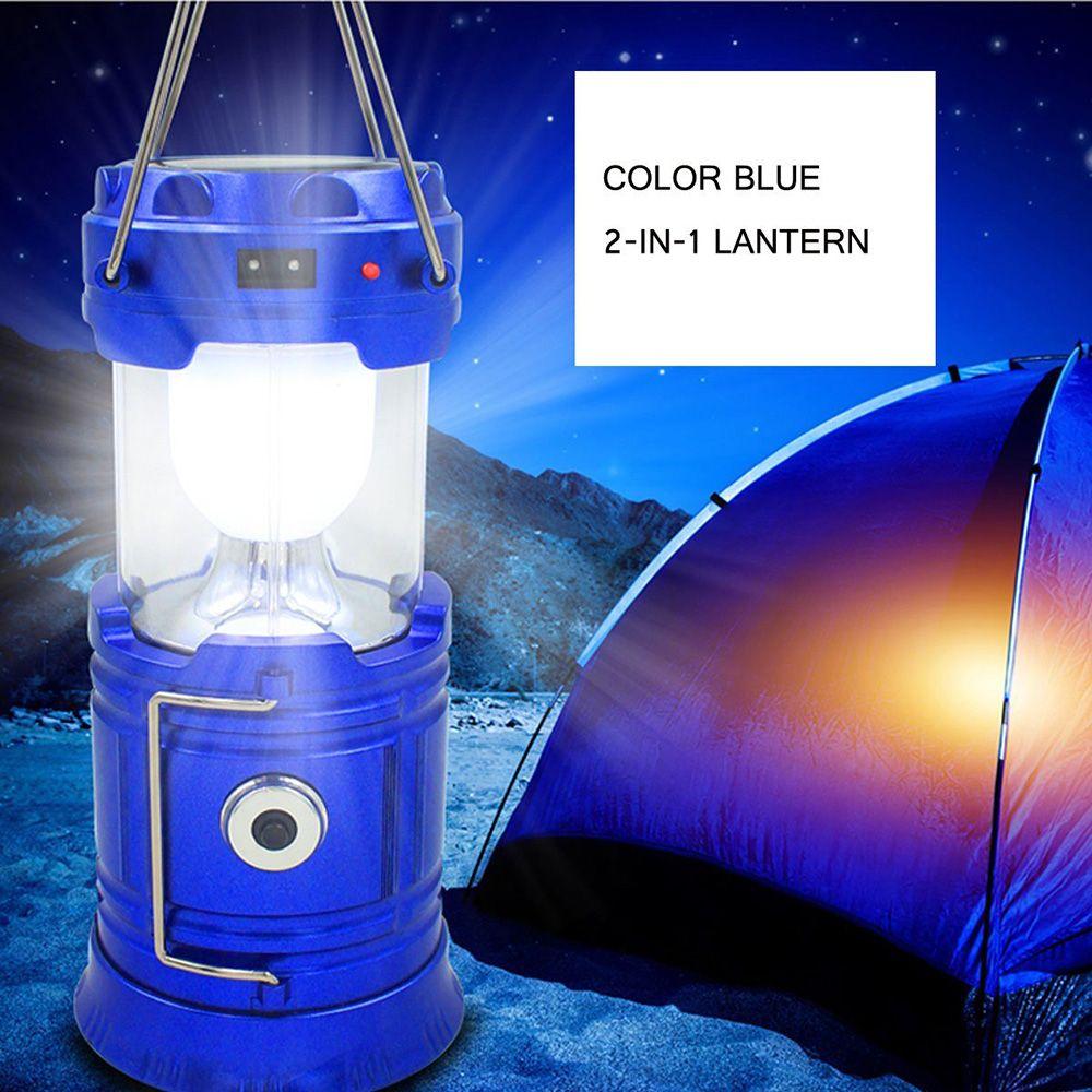 ZK30 style Classique 6 Led Rechargeable Lumière De Camping Pliable Solaire Lanterne De Camping Randonnée Voyage Tente Lumières livraison directe