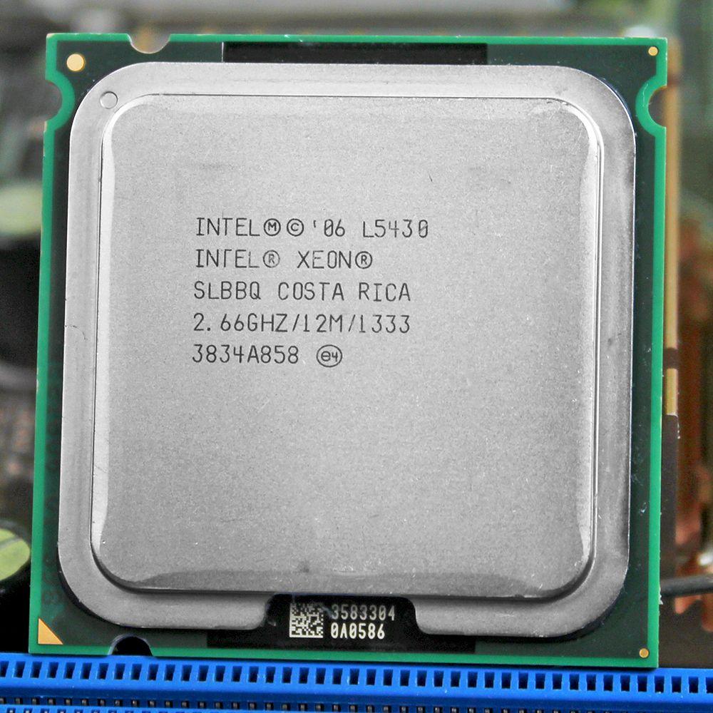 INTEL XONE L5430 cpu intel L5430 PROCESSEUR quad core 2.67 MHZ LeveL2 12 M Travail sur 775 avec 2 pcs adaperts