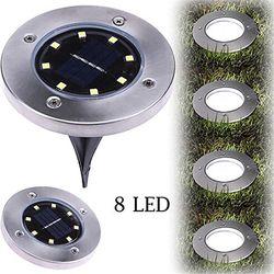 IP65 impermeable 8 LED Solar al aire libre lámpara de tierra del césped del paisaje Yard escalera subterráneo enterrado luz de la noche inicio jardín decoración
