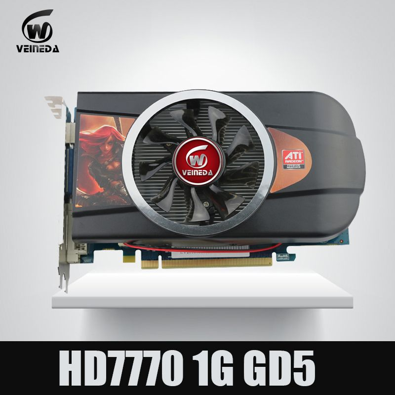 Original Neue grafikkarten ATI Radeon Chipset HD7770 1 GB 128Bit GDDR5 stärker als GTX650 & GT740