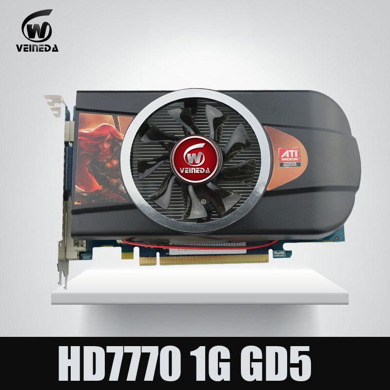VEINEDA grafikkarten Video Karte HD7770 1 gb 128Bit GDDR5 für ATI Radeon Spiele