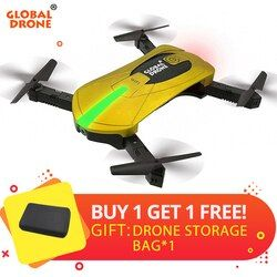 RC Drone dengan Kamera HD RC Helikopter Lipat Mini Drone FPV Quadcopter Selfie Drone Quadrocopter Drone GW018 JY018 JD018