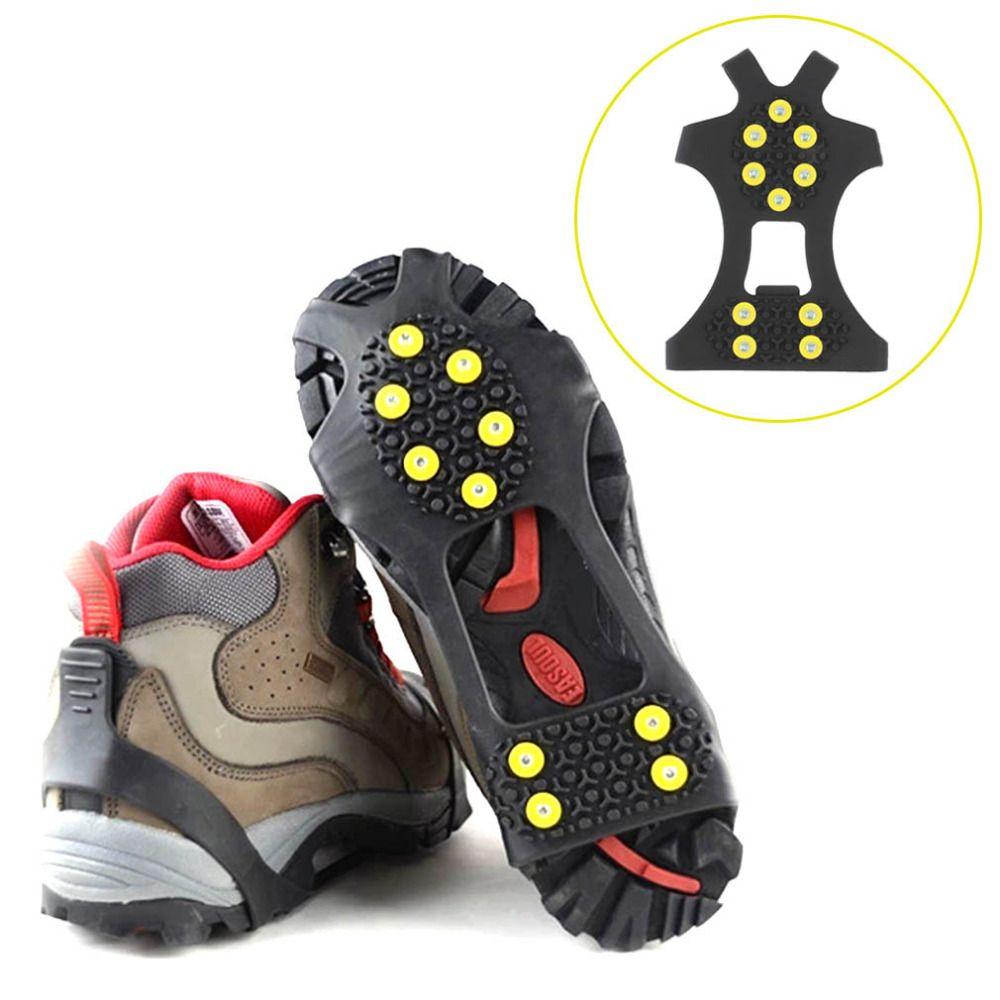 1 para Professionelle Camping Klettern Eis Steigeisen Schlupf Ice Snow Walking Schuh Spike Grip Schutzhülle Werkzeug Outdoor Ausrüstung
