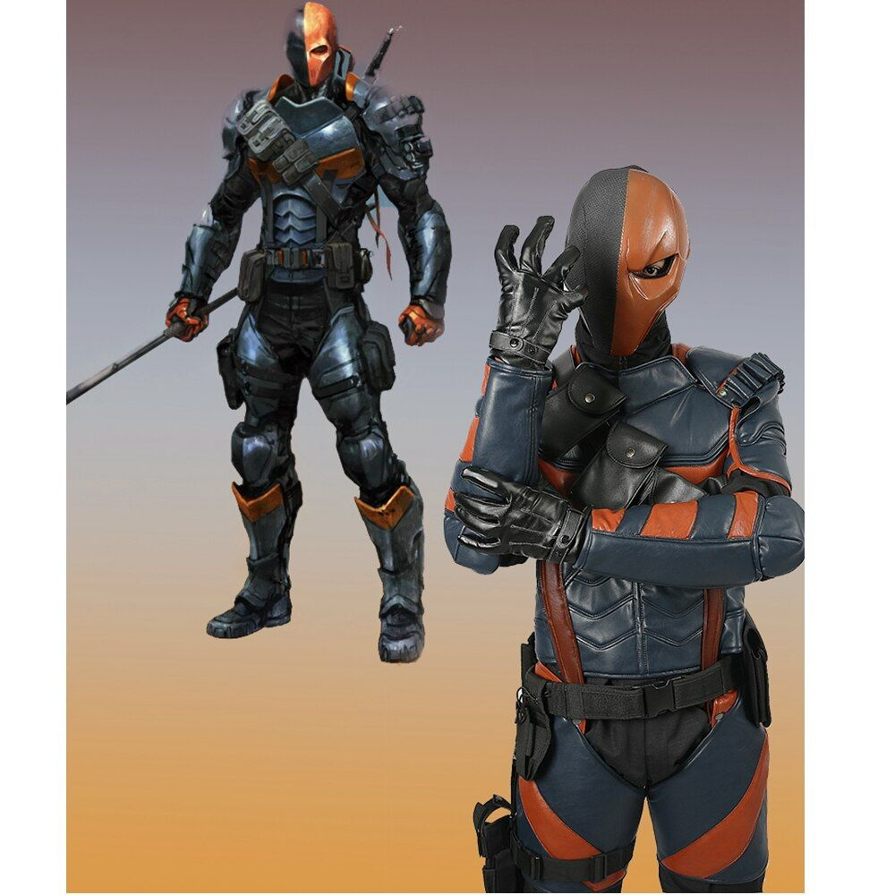 Coslive Deathstroke Armor Cosplay Costume for Game Batman: Arkham Knight Halloween Deluxe Adult Outfit For Men