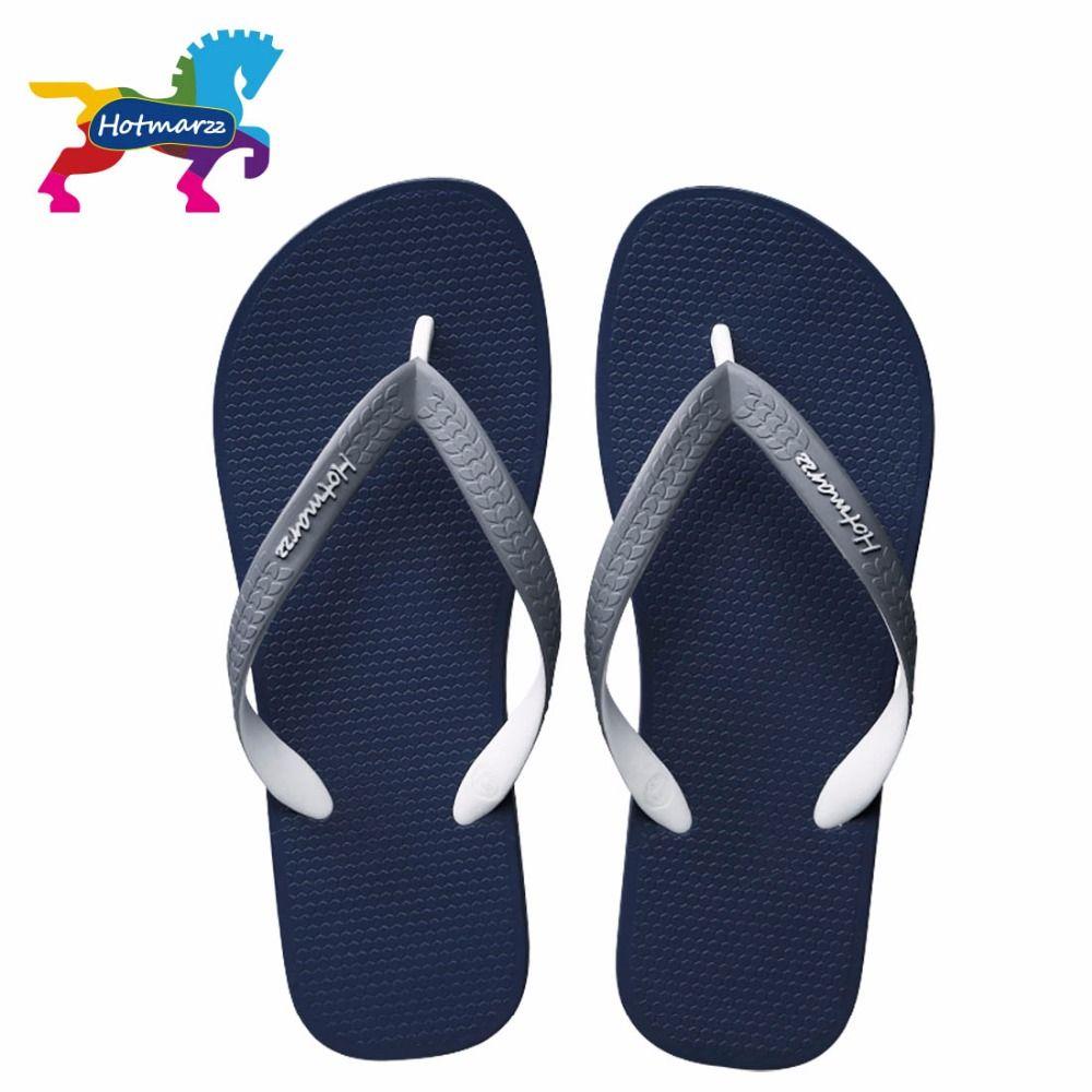 Hotmarzz hommes mode sandales été Designer tongs marque plage caoutchouc diapositives maison chaussures maison pantoufles hommes chaussures