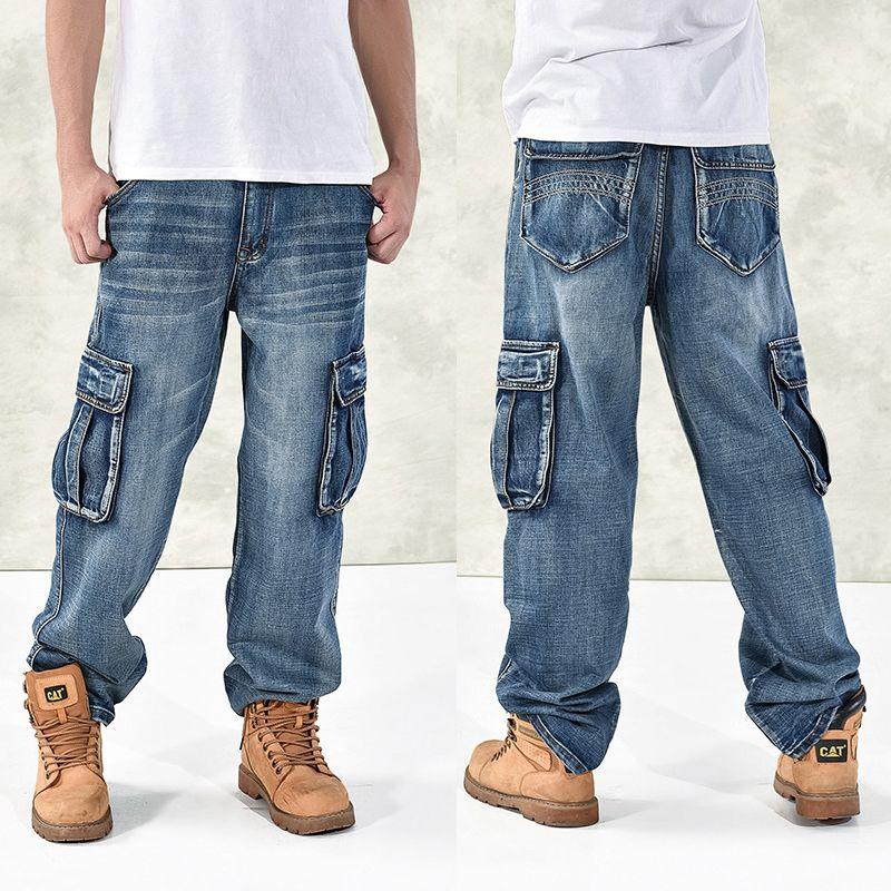 Large size 42 40-28 5XL-M Hip hop jeans men famous designer brands high quality Skateboard denim Skateboard jean man spring 2018