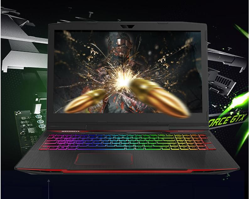 MECHREVO X2 i7 Gaming Laptop Gaming Laptops With Windows 10 Notebook GTX 1050Ti 15.6 Intel Core i7-8750H 8G 128G+1T Gamer
