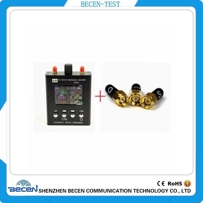 English verison N2061SA UV RF ANT SWR Antenna Analyzer Meter Tester 1.1MHz-1.3GHz +3.5mm SMA-J Calibration(L.O.S)