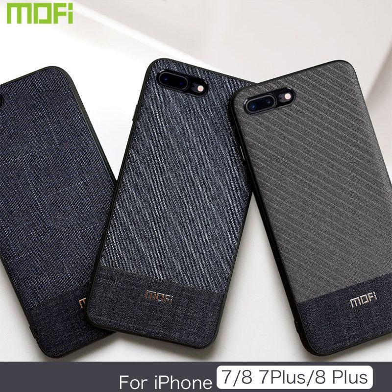 Pour iPhone 8 plus étui en tissu pour iPhone 8 étui de couleur foncée pour iPhone 7/7plus étui Handcraft Gentleman iP7