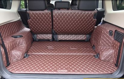 Customized full covered car trunk mats for Mitsubishi Pajero 5seats /7seats waterproof cargo liner boot carpets