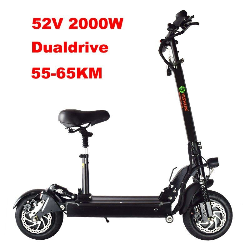 Electric Scooter 1000W Foldable Powerful Adult Off Road Electric Scooter Dualdrive Skateboard Professional Electric Longboard