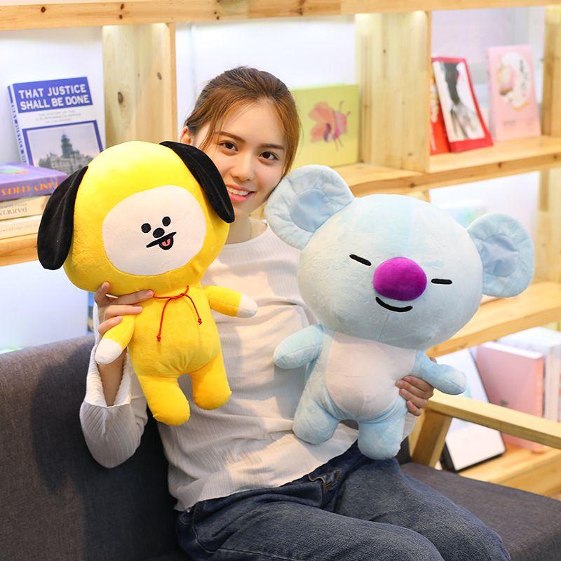 1pc 25/35/45cm Cute Bangtan Boys BTS bt21 Plush Toy TATA VAN COOKY CHIMMY SHOOKY KOYA RJ MANG Gift Pillow Cushion Children Gift
