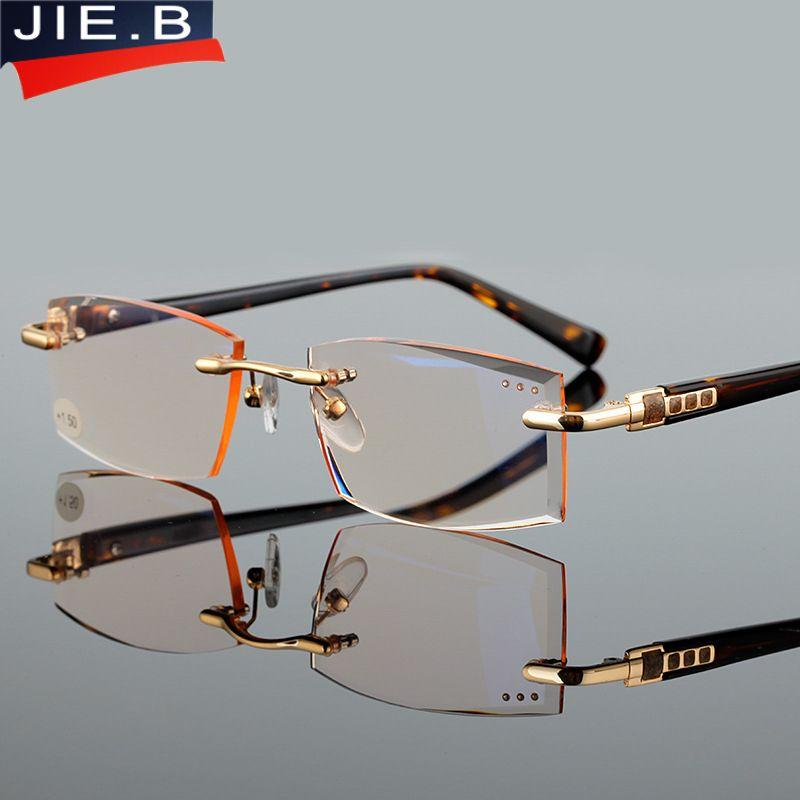Haute qualité coupe spéciale presbytie lentilles hommes style carré lunettes de lecture mode presbyte lunettes pour hommes hyperopie