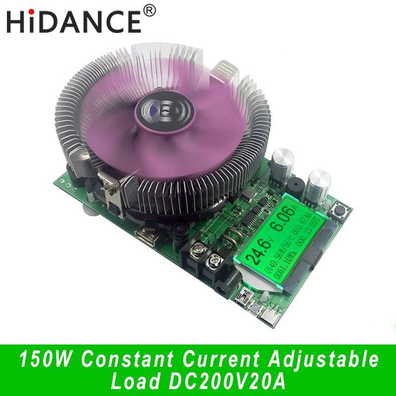 150 W/180 W DC voltmètre numérique courant Constant charge électronique 200 V 20A ampèremètre compteur de décharge voiture batterie capacité volt testeur