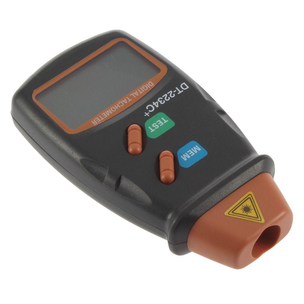 1 set tachymètre Laser numérique de haute qualité RPM mètre moteur sans Contact tour jauge de vitesse révolution Spin