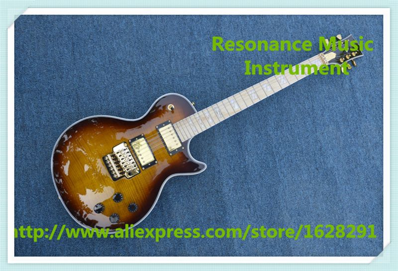 Hot Selling Maple Fretboard AL Signature LP Electric Guitars With Glod Floyd Rose Tremolo For Sale