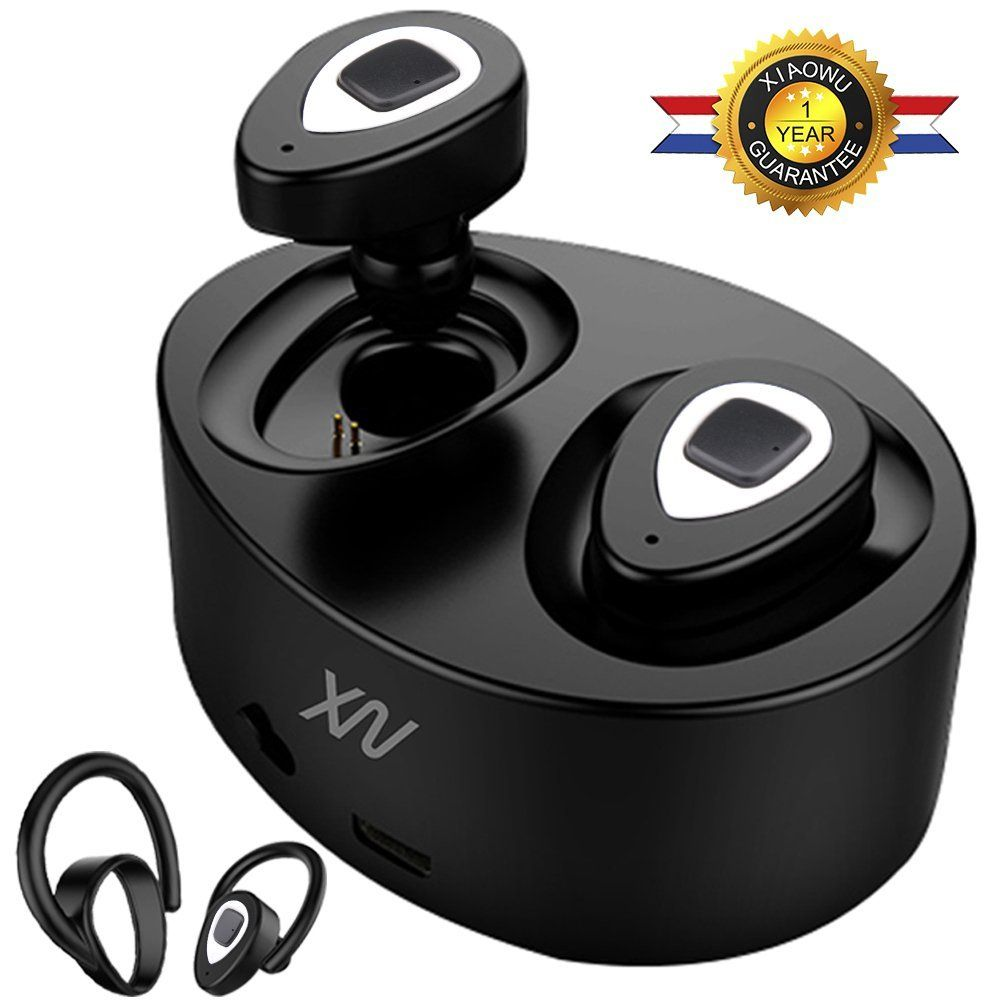 Original XIAOWU k5 K2 mini Headset wireless bluetooth earphone Binaural earbud with Mic Charging Box for iphone 8 /android phone