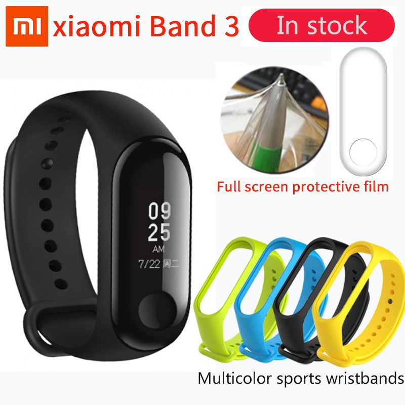In Stock Xiaomi Mi Band 3 Miband 3 Fitness Tracker Heart Rate Monitor 0.78'' OLED Display Touchpad Bluetooth 4.2 For Android IOS