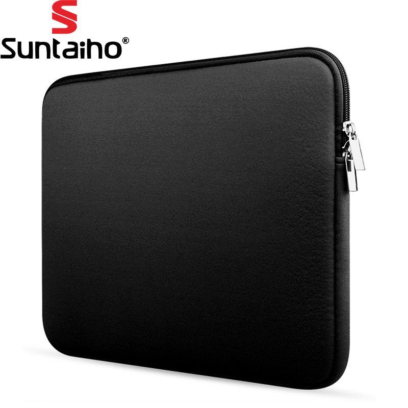 Neueste Weicher Laptop Tasche Für Macbook Air Pro Retina 11 13 15 zoll Reißverschluss Taschen Für Mac Buch Tragetasche Abdeckung Notebook