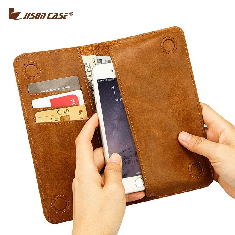 Jisoncase Case for iPhone 6 6s 4.7 Wallet Pouch Fundas for iPhone 6 plus 6s plus 5.5 PU Leather with Card Slot Luxury Case
