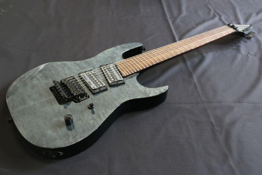 Flat Top AAAAA Quilted Maple Top Floydrose 7 String e-gitarre Guitarra alle farbe Nehmen
