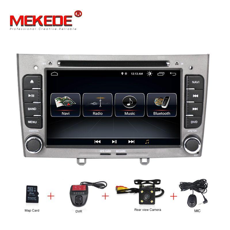 Kostenloser versand HD 1024x600 Android 8.1 7 zoll Auto DVD multimedia Für Peugeot 308 408 mit WIFI Radio GPS navigation 8G KARTE