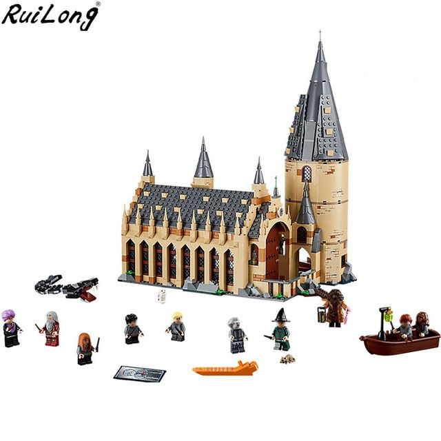 New Harry Potter Serices Hogwarts Great Hall Compatibility Legoing Harry Potter 75954 Building Blocks Bricks Toys Gift Christmas