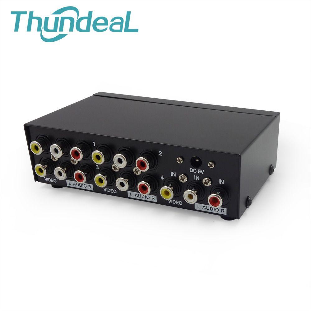 AV Splitter DVD HDTV RCA Vidéo Splitter Boîte 1 à 8 out 3 RCA Distributeur 1 dans 4 RCA Audio vidéo AV Adaptateur pas Switcher Commutateur