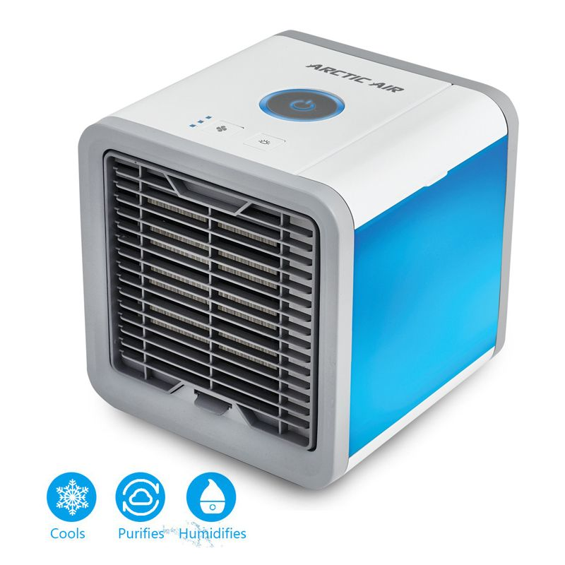 USB Air Cooler Fan Personal Space Artic Air Cooler Portable Desk Fan Mini Conditioner Device Cool Soothing Wind For Home/Office