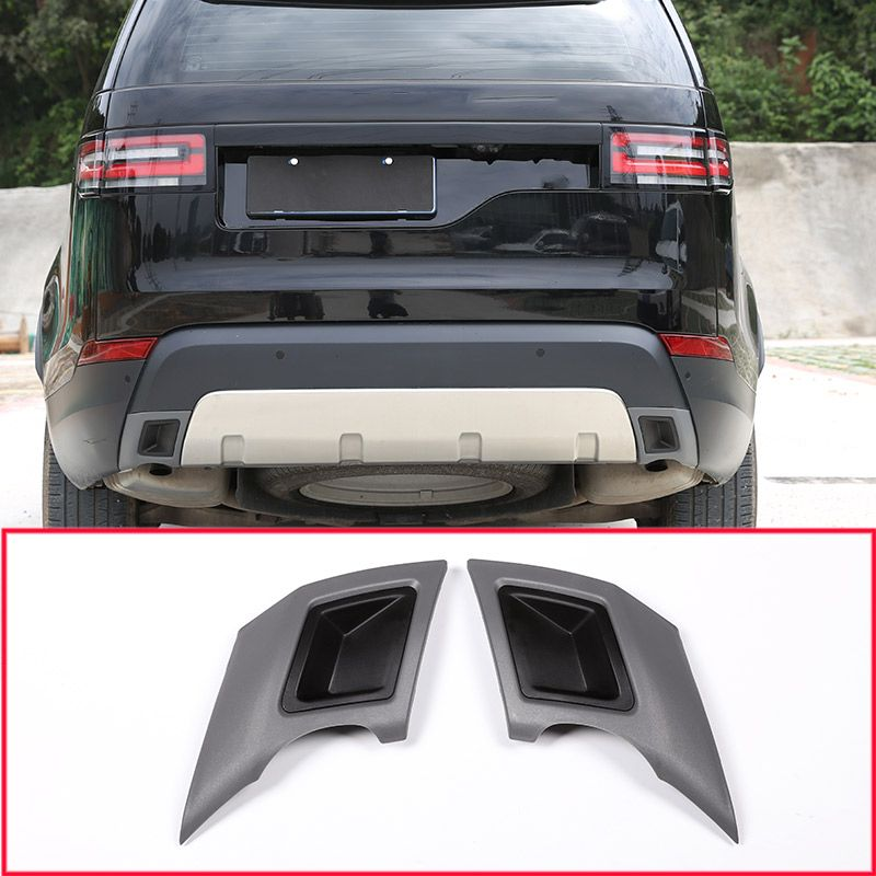 ABS Car Tail Throat Exhaust Plate Protection Cover Trim For Land Rover Discovery 5 S/SE LR5 2017 2018 Car Accessories