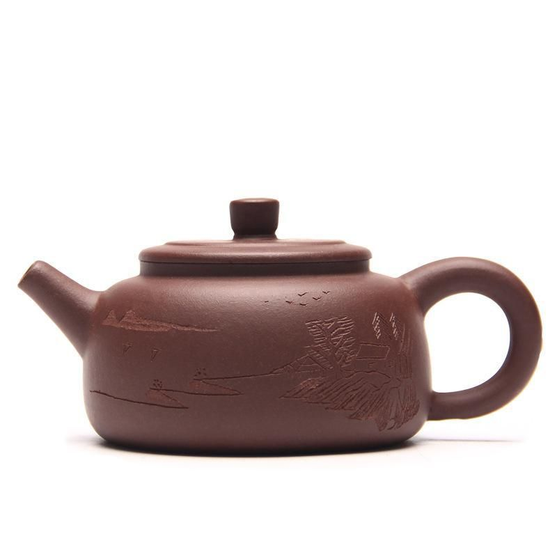 Chinese Yixing Teaware Stone Scoop Tea Pot Yixing Purple Clay Ore Authentic Teapot Masters Specials Kung Fu Author:zhou ting