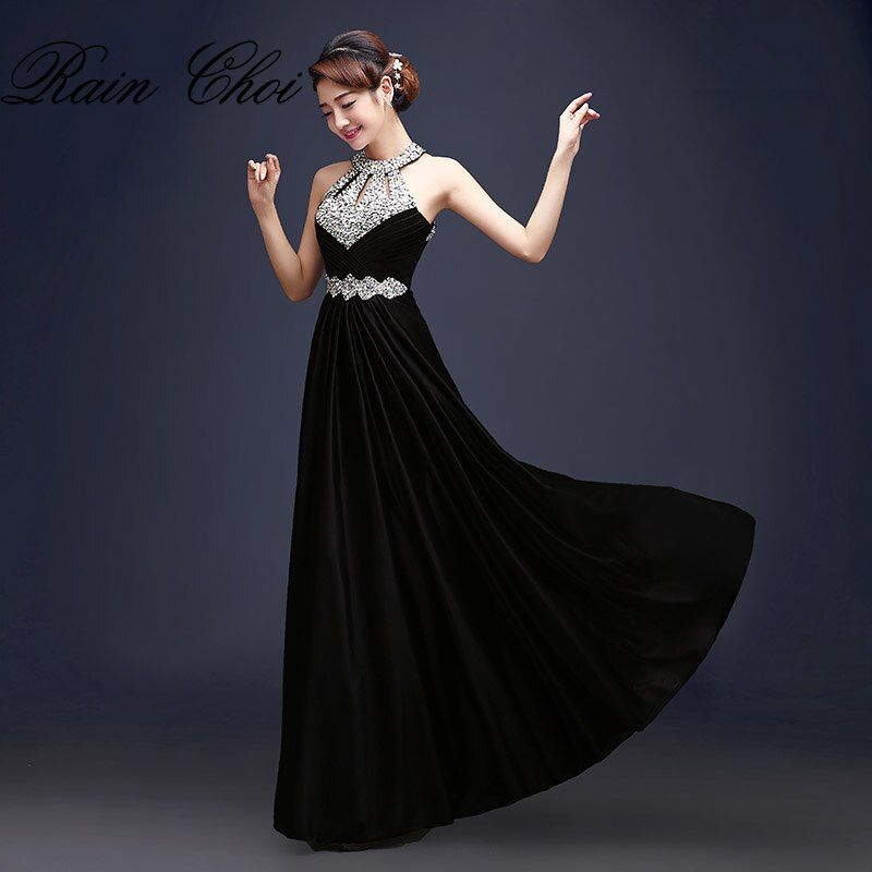 Evening Dress 2018 Free Shipping Floor-length Satin Sexy Formal Prom Party Gowns Elegant Long Evening Dresses