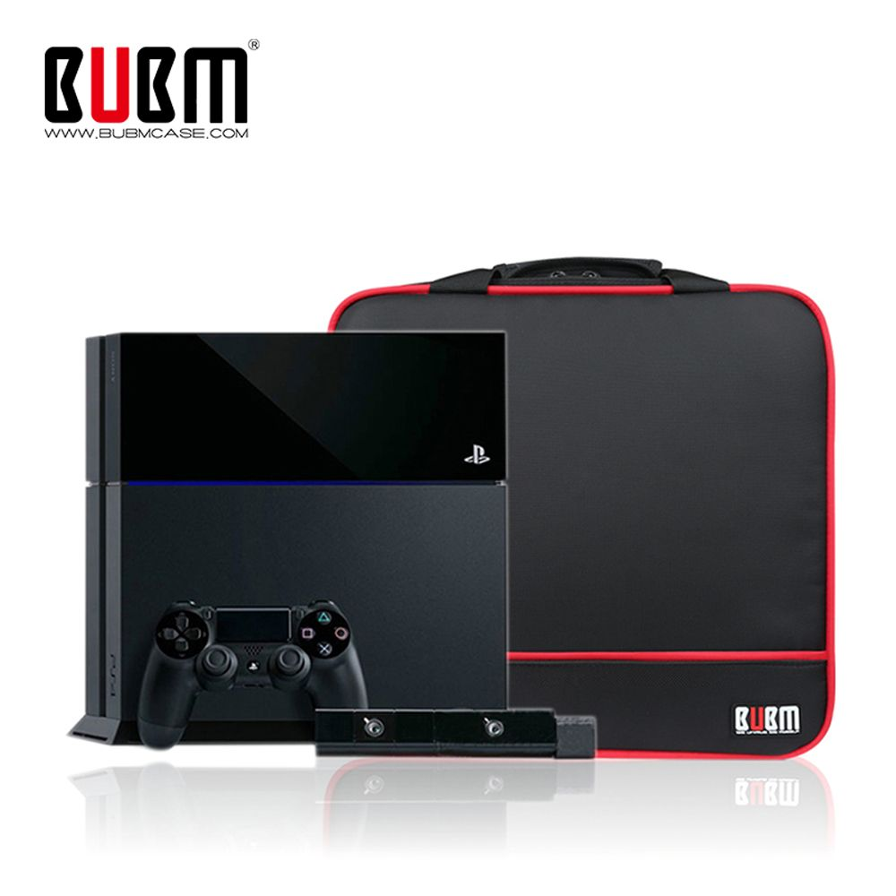 BUBM Travel Carrying Case for PlayStation 4 /XBOX ONE X /PS4 Slim /PS3 Video game Console System & Controllers Storage bag
