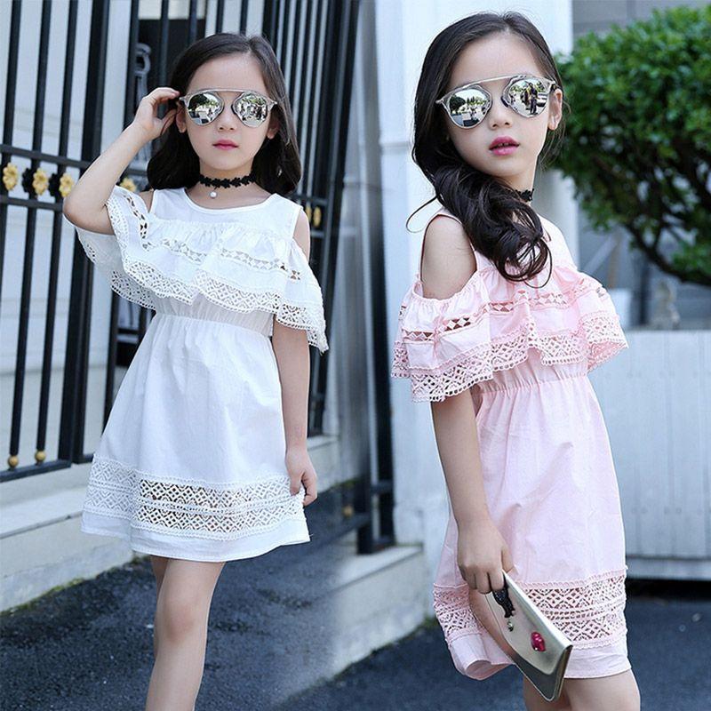 Bébé fille robe 2017 pour enfants d'été Creux Dentelle Princesse Infantil enfants Fête Robe Vêtements pour filles 4 6 8 10 12 ans