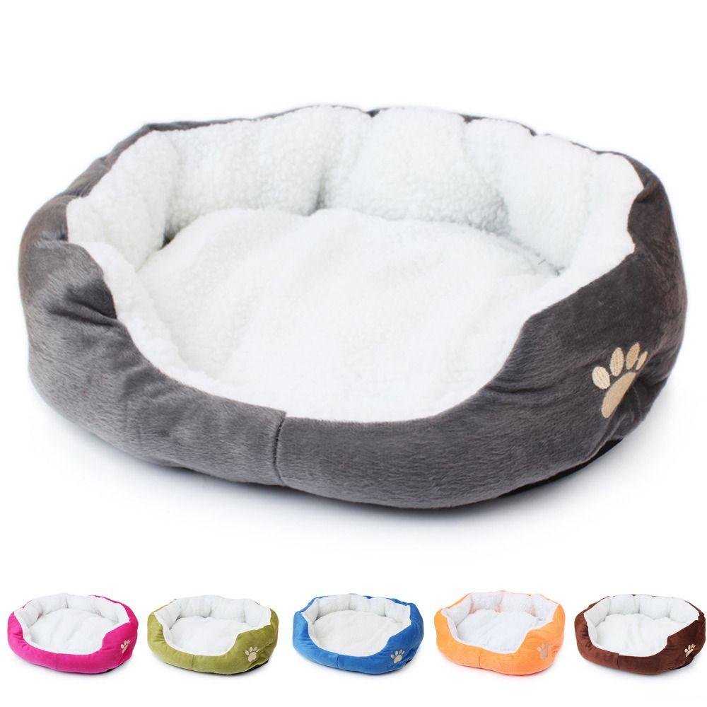 1 pièces 50*40cm Super mignon doux chat lit hiver maison pour chat chaud coton chien produits pour animaux de compagnie Mini chiot Pet chien lit doux confortable