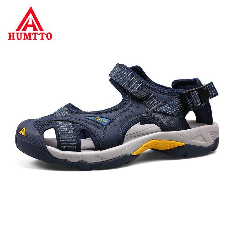 Nouveau limité hommes en amont respirant été femmes Aqua chaussures en caoutchouc sandales Air maille Wading séchage rapide plage mâle en plein Air offre spéciale